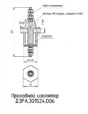 Изолятор взрывозащищенный производства ООО «ДЗРА»