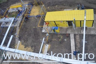 Строительство объекта по обустройству газового месторождения.