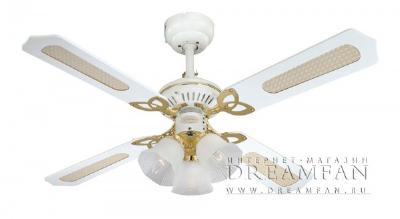 Новый потолочный вентилятор Princess Trio White