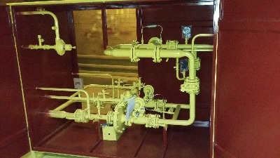 Газорегуляторный пункт шкафной УГРШ-50В с измерительным комплексом СГ-ЭКВз-Р-250/1, 6