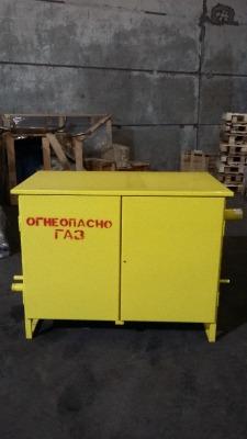 Газорегуляторный пункт шкафной ГРПШ-05-2У1 с регуляторами РДНК-400М, утепленный УРСА двойные стенки, с газовым обогревом, двухстороннего обслуживания