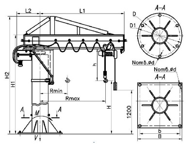 Кран с механическим поворотом консоли серии ККМ – 7 от Производителя