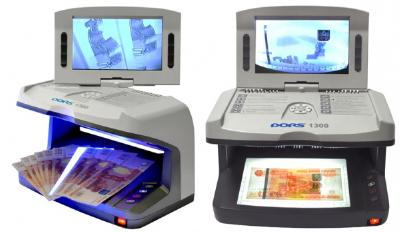 Новый банковский детектор валют Дорс 1300м2 с Умным Антистоксом.