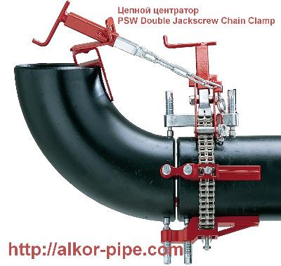 Центратор PSW Double Jackscrew Chain Clamp цепной для сварки труб
