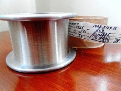 Никелевая проволока ГОСТ 2179-75 ДКРНТ-0.025-KT-НП-2