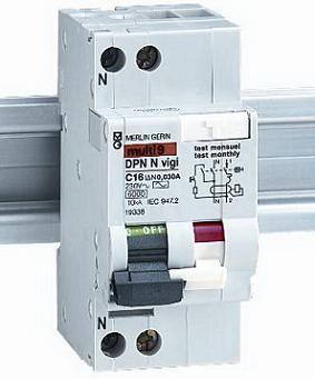 Диффеpенциальные автоматические выключатели DPN N Vigi