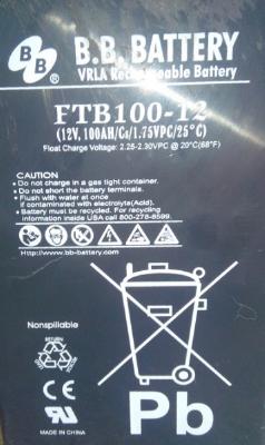 Аккумулятор для UPS B.B. Battery FTB100-12.