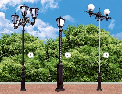 Опоры освещения комбинированные с элементами чугунного литья: Кастра, Аврора, Сириос