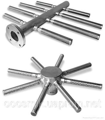 Нижние и верхние распределительные (НРУ) устройства для фильтров ФИПа, ФОВ, колпачки щелевые