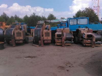 Натяжные и тормозные машины Tesmec ARS606, ARS510, FRB518, AFS404