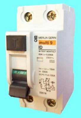 Диффеpенциальные выключатели нагрузки (УЗО) ID