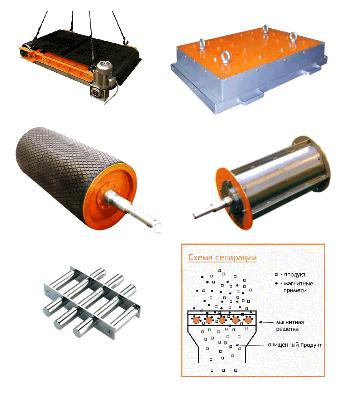 Железоотделители (сепараторы) на постоянных магнитах
