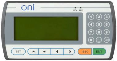 Монохромная текстовая панель оператора серии ONI TD с диагональю экрана 4, 3″ для оперативного управления малыми автоматизированными системами