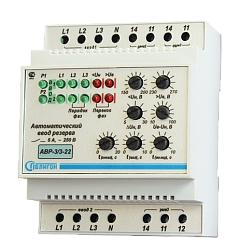 Устройство автоматического ввода резерва с микропроцессорным управлением АВР–3/3–22 для контроля напряжения по двум независимым трехфазным вводам