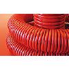 Гофрированная труба ДКС оранжевого цвета из ПНД.