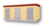 Трансформаторная подстанция в железобетонной оболочке с коридором обслуживания