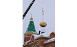 В честь православного праздника Дня Святого Николая на возводимый при участии НПО «Каскад» в селе Чиганары храм подняты купола.