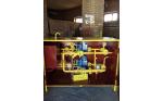 Газорегуляторный пункт шкафной ГРПШ-13-2НУ1-СГ-ЭК с основной и резервной линиями редуцирования, двухстороннего обслуживания, регуляторы РДГ-50/35 производства Газпроммаш, с измерительным комплексом СГ-ЭКВз-Р-0, 75-250/1, 6 (1:200) с ППД, с блоком БПЭК
