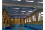 В проекте освещения Станция юных туристов использовали светильники для спортзалов SKE-NS 40 с защитной решёткой